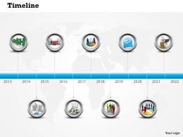 0514 Business Marketing Time Line Diagram Powerpoint Slides
