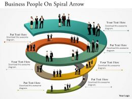 0514 Business People On Spiral Arrow Powerpoint Presentation