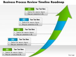 0514 Business Process Review Timeline Roadmap 5 Stage Powerpoint Slide Template