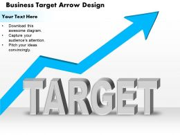 0514 Business Target Arrow Design Powerpoint Presentation