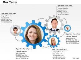 23412230 Style Essentials 1 Our Team 1 Piece Powerpoint Presentation Diagram Infographic Slide