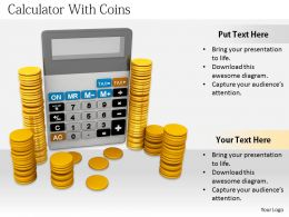 0514 Calculate The Money For Finance Image Graphics For Powerpoint