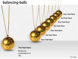 0514 Cause And Effect Balancing Balls Image Graphics For Powerpoint