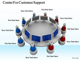 0514 Center For Customer Support Image Graphics For Powerpoint
