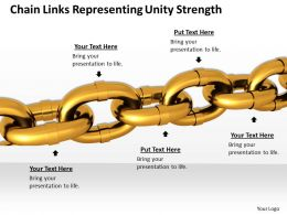 0514 Chain Links Representing Unity Strength Image Graphics For Powerpoint