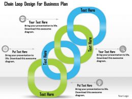 0514 Chain Loop Design For Business Plan Powerpoint Presentation