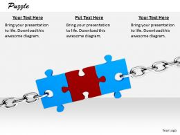 0514 Chain Of Puzzle Pieces Image Graphics For Powerpoint