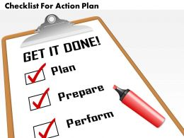 0514 Checklist For Action Plan Powerpoint Presentation