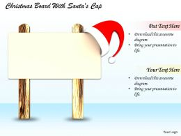 0514 Christmas Board With Santas Cap Image Graphics For Powerpoint