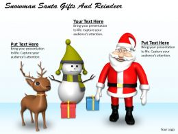 0514 Christmas Decorations With Santa And Reindeer Image Graphics For Powerpoint