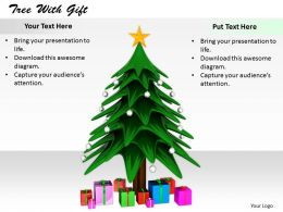 0514 Christmas Tree And Gifts Image Graphics For Powerpoint