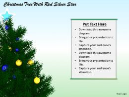 0514 Christmas Tree With Colorful Stars Image Graphics For Powerpoint