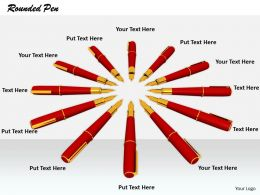 0514 Circle Of Pens Graphic Image Graphics For Powerpoint