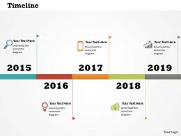 0514 Colored Graphic Data Driven Time Line Diagram Powerpoint Slides