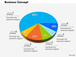 0514 Colored Pie Chart For Result Data Driven Analysis Powerpoint Slides