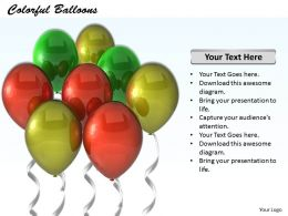 0514 Colorful Balloons Party Concept Image Graphics For Powerpoint