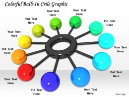 0514 Colorful Balls In Circle Graphic Image Graphics For Powerpoint