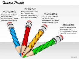 0514 Colorful Image Of Twisted Pencils Image Graphics For Powerpoint