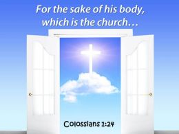 0514 Colossians 124 For The Sake Of His Power PowerPoint Church Sermon