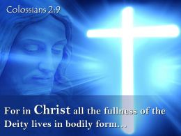 0514 Colossians 29 For in Christ all the fullness PowerPoint Church Sermon