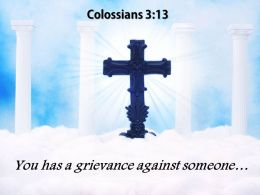 0514 Colossians 313 You Has A Grievance PowerPoint Church Sermon