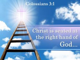 0514 Colossians 31 The Right Hand Of God Powerpoint Church Sermon