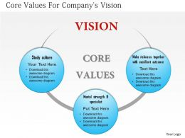 0514 Core Values For Company Vision
