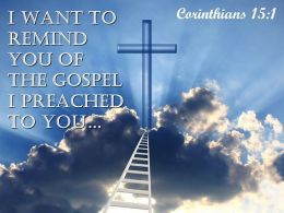 0514 Corinthians 151 I Want To Remind You Powerpoint Church Sermon