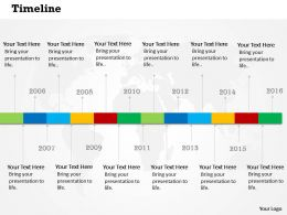 0514 Creative Business Time Line Diagram Powerpoint Slides
