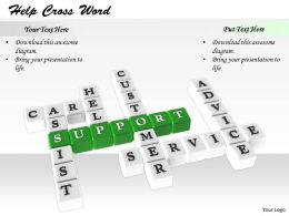 0514 Crossword Related To Word Support Image Graphics For Powerpoint