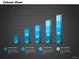 0514 Data Driven Blue Bar Graph Powerpoint Slides