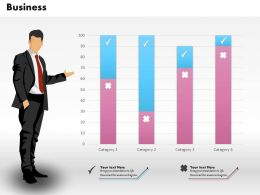 0514 Data Driven Business Bar Graph Business Chart Powerpoint Slides