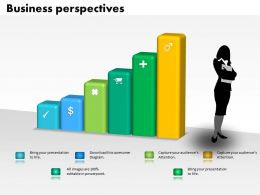 0514 Data Driven Business Prespective Bar Graph Powerpoint Slides