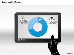 0514 Data Driven Donut Diagram Powerpoint Slides