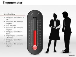 0514 Data Driven Thermometer Diagram Powerpoint Slides