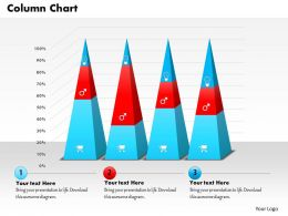 0514 Data Driven Triangular Bar Graph Powerpoint Slides