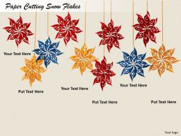 0514 Decorate House With Snow flakes Image Graphics For Powerpoint