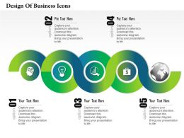 0514 Design Of Business Icons Powerpoint Presentation