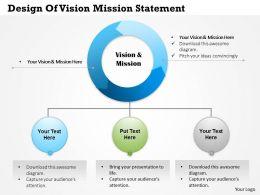 50634061 Style Essentials 1 Our Vision 1 Piece Powerpoint Presentation Diagram Infographic Slide