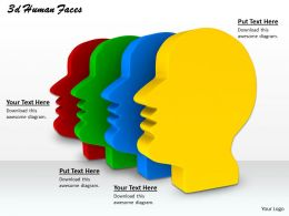 0514 Different Kinds Of Human Faces Image Graphics For Powerpoint