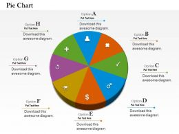 0514 Different Symbol Data Driven Pie Chart Powerpoint Slides