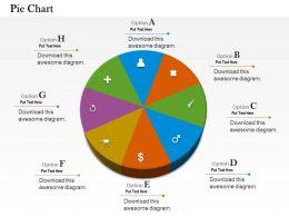 0514 Different Symbol Data Driven Pie Chart Powerpoint Slides