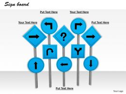 0514 Directional Sign Board Graphic Image Graphics For Powerpoint