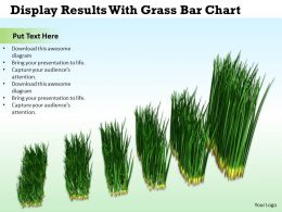 0514 Display Results With Grass Bar Chart Image Graphics For Powerpoint