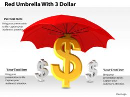 0514 Dollar Symbol Under Umbrella Image Graphics For Powerpoint 1