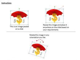 0514_dollar_symbol_under_umbrella_image_graphics_for_powerpoint_1_Slide02