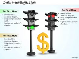 0514 Dollar With Traffic Light Image Graphics For Powerpoint