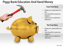 0514 Dont Break The Piggy Bank Image Graphics For Powerpoint