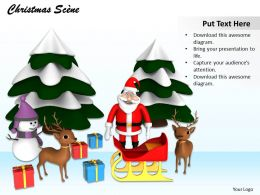 0514 Dream Christmas Gifts And Santa Image Graphics For Powerpoint