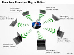 0514 Earn Your Education Degree Online Image Graphics For Powerpoint